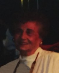 Somewhat indistinct photograph of Nadia Schaible, an elderly woman with short curly hair and fair skin.