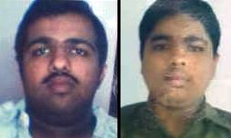 Photo of Santosh and Harish, both young Indian men.
